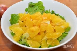 Апельсиновый салат с зеленью - фото шаг 3