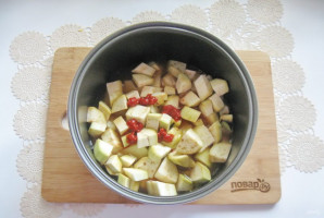 Картошка с баклажанами в мультиварке - фото шаг 7