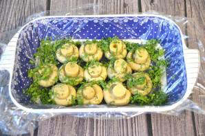 """Салат """"Грибная поляна"""" с корейской морковью - фото шаг 3"""
