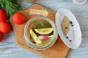 Маринованные помидоры с лимоном на зиму - фото шаг 3