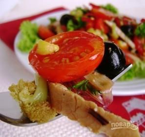 Салат с жареной свининой - фото шаг 4