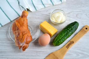 Салат с копченым мясом и огурцом - фото шаг 1