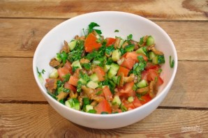 Салат с сыром фета - фото шаг 5