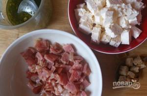 Салат с ветчиной и сухариками - фото шаг 8