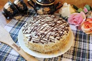 Шоколадный торт с черносливом и орехами - фото шаг 16