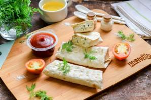 Лаваш с творогом и сыром - фото шаг 8