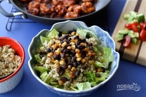 Салат с креветками и рисом - фото шаг 6