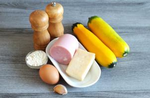 Чебуреки из кабачков с ветчиной и сыром - фото шаг 1