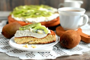 Пирог с  творогом и киви - фото шаг 8