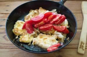 Грудка с помидорами - фото шаг 5