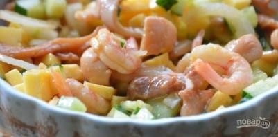 Салат с кальмаром - фото шаг 5