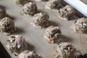 Шарики из индейки с грибами и оливками - фото шаг 5