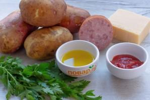 Картошка-гармошка под сырной корочкой - фото шаг 1