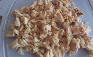 Персики, фаршированные курицей - фото шаг 2
