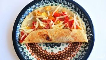 Кесадилья с овощами - фото шаг 4