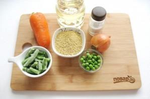 Пшенная каша с овощами - фото шаг 1
