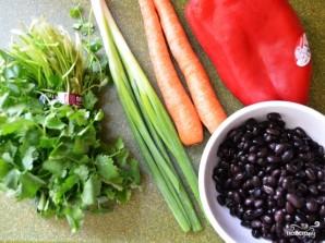 Салат с рисом и креветками - фото шаг 2
