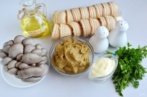 Тарталетки с паштетом и грибами - фото шаг 1