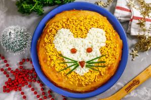 """Закусочный торт """"Мышка"""" на Новый год"""