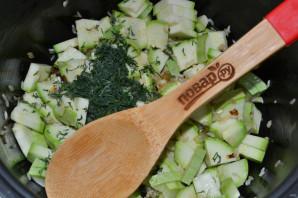 Рис с кабачками в мультиварке - фото шаг 6