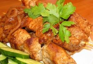 Шашлык на сковороде из свинины - фото шаг 11