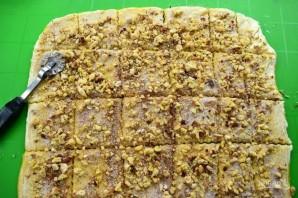 "Хлеб ""Гармошка"" с ореховой начинкой - фото шаг 8"