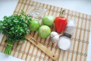 Салат из зеленых помидоров по-грузински - фото шаг 1