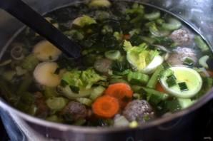 Суп овощной с фрикадельками - фото шаг 4