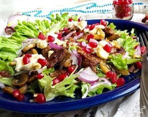 Салат со свининой и шампиньонами - фото шаг 6