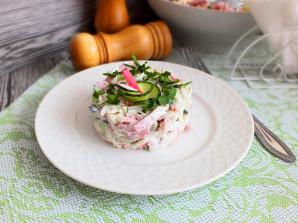 Салат из крабовых палочек и ветчины - фото шаг 7