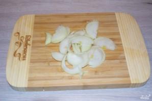 Скумбрия, запеченная с грибами - фото шаг 2