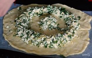"""Пирог """"Солнце"""" с сыром и зеленью - фото шаг 3"""