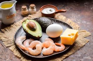 Авокадо фаршированное креветками - фото шаг 1