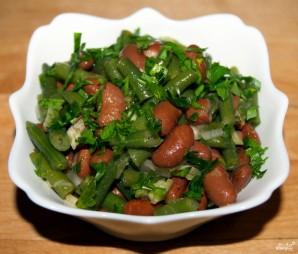 Постный салат с фасолью - фото шаг 7