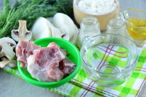 Чебуреки с мясом и грибами - фото шаг 1