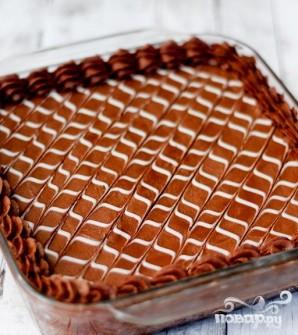 Пирожные с шоколадно-ванильной глазурью - фото шаг 5
