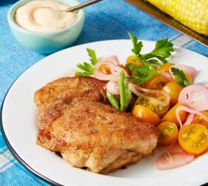 Курица с томатным салатом - фото шаг 7