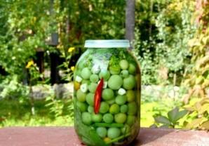 Засолка зелёных помидоров холодным способом - фото шаг 8