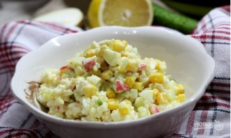 Вкусный крабовый салат - фото шаг 7