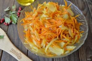 Торт из кабачков с морковью и луком - фото шаг 4