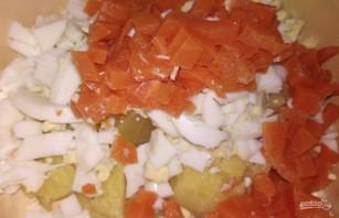 Мясной салат с индейкой - фото шаг 3