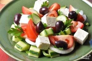 Греческий салат с фетой - фото шаг 9
