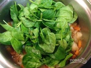 Суп с фасолью и шпинатом - фото шаг 8