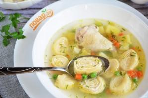 Суп с сырными рулетиками - фото шаг 12