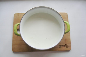 Домашний сыр из магазинного молока - фото шаг 2