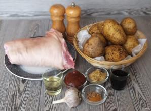 Рулька с картошкой в духовке - фото шаг 1