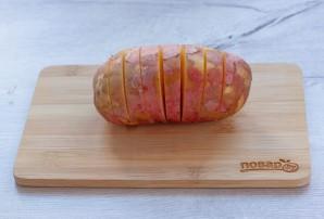 Картошка-гармошка под сырной корочкой - фото шаг 2