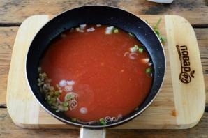 Томатный суп с фрикадельками - фото шаг 9