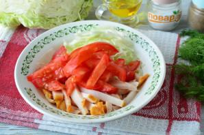 Салат с капустой, ветчиной и сухариками - фото шаг 8