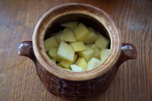 Чанахи в горшочках с фасолью - фото шаг 8